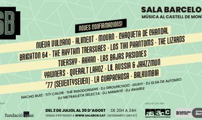 Sala Barcelona, nuevas confirmaciones