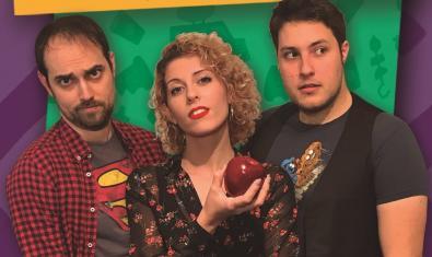 Joan Gil, Laura Miquel y David G. Llop en el cartel de 'Veganos'