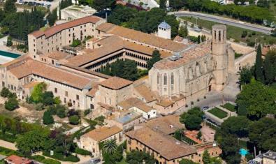 Fotografía desde el aire del Monastir de Pedralbes