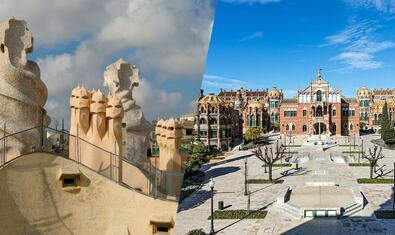 Visita combinada a La Pedrera y el Recinto Modernista de Sant Pau