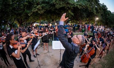 L'Orquestra Simfònica Vozes durant un concert en el darrer Festival de Pedralbes