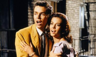 Richard Beymer i Natalie Wood a 'West Side story'