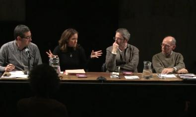 One of the moments of the talk titled 'Que no mori la llum', organised by the Beckett which you can retrieve at its YouTube channel