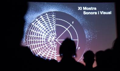 Una de les imatges de l'última edició de la Mostra amb el públic mirant una gran pantalla