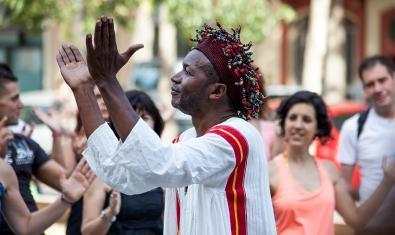 El compositor y músico camerunés Xumo, uno de los participantes