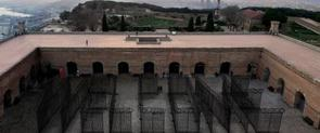 The courtyard at the Castle of Montjuïc, which will host the installation