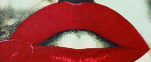Visió parcial de l'obra 'Atomic kiss', de Joan Rabascall, que forma part de la Col·lecció MACBA