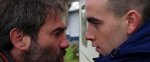 Els actors Sergi López i Àlex Monner a 'La propera pell'