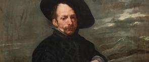 Detall de 'Bufó amb llibres', una de les peces de Velázquez exposades