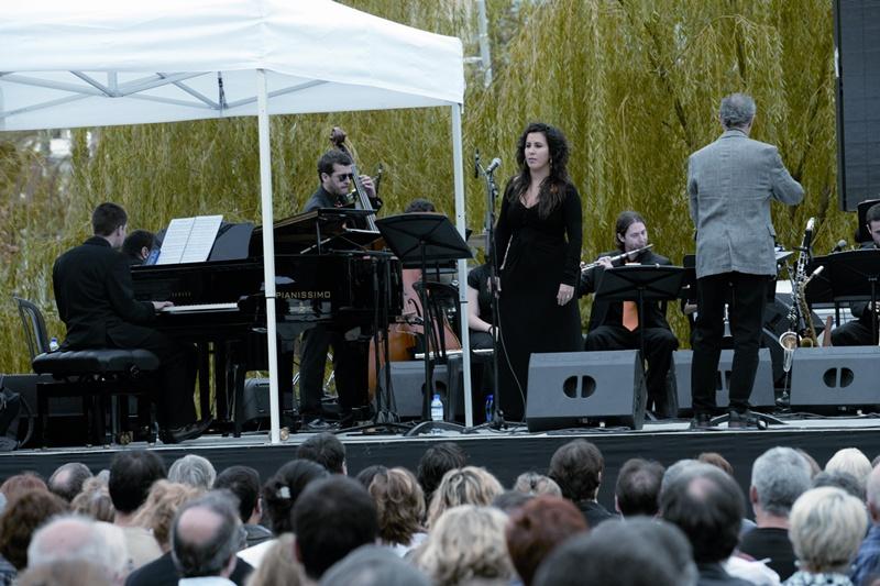 Concert inaugural de la 40a edició del Festival de Jazz de Barcelona, l'octubre del 2008, al parc del Centre del Poblenou.