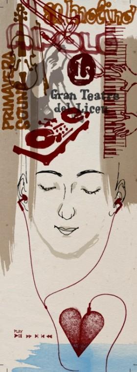 Il·lustració sobre la Barcelona melòmana