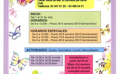 Casal d'estiu per a nens/es, de 5 a 12 anys