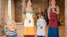 Els Gegants del Raval, la Quimeta del Raval i el nan Manolito de Sant Just