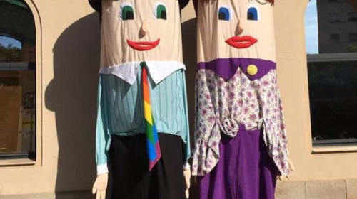 Gegants vells o de roba del Clot. Foto: Colla Gegantera del Clot