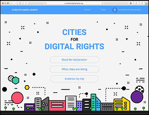 Cities for Digital Rights web