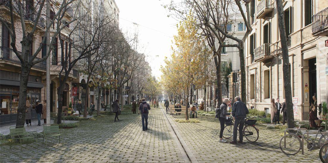 Imatge de la proposta Caminar des del centre de b67 Palomeras Arquitectes i Cierto Estudio.