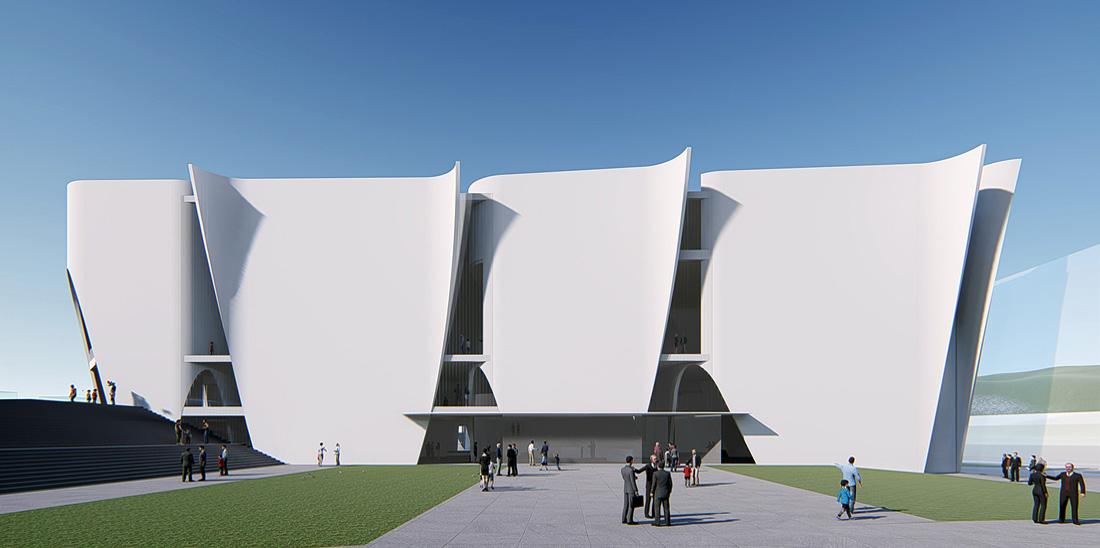 Imatge virtual del projecte de Museu Hermitageper a Barcelona. © Museu Hermitage Barcelona.