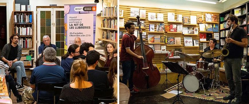 Primera celebració de la 'Nit de les llibreries' l'octubre de 2018. © Ajuntament de Barcelona / Goroka