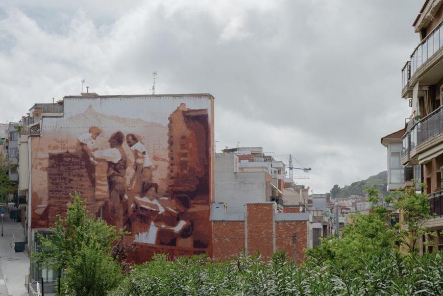 Mural Amb les nostres mans (2019). © Martí Petit