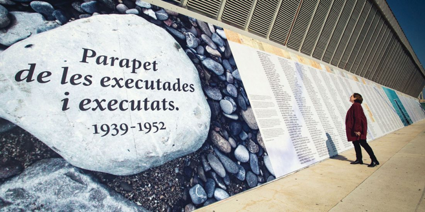 Inauguració del parapet de les executades i executats a Barcelona 1939-1952. © Marc Lozano
