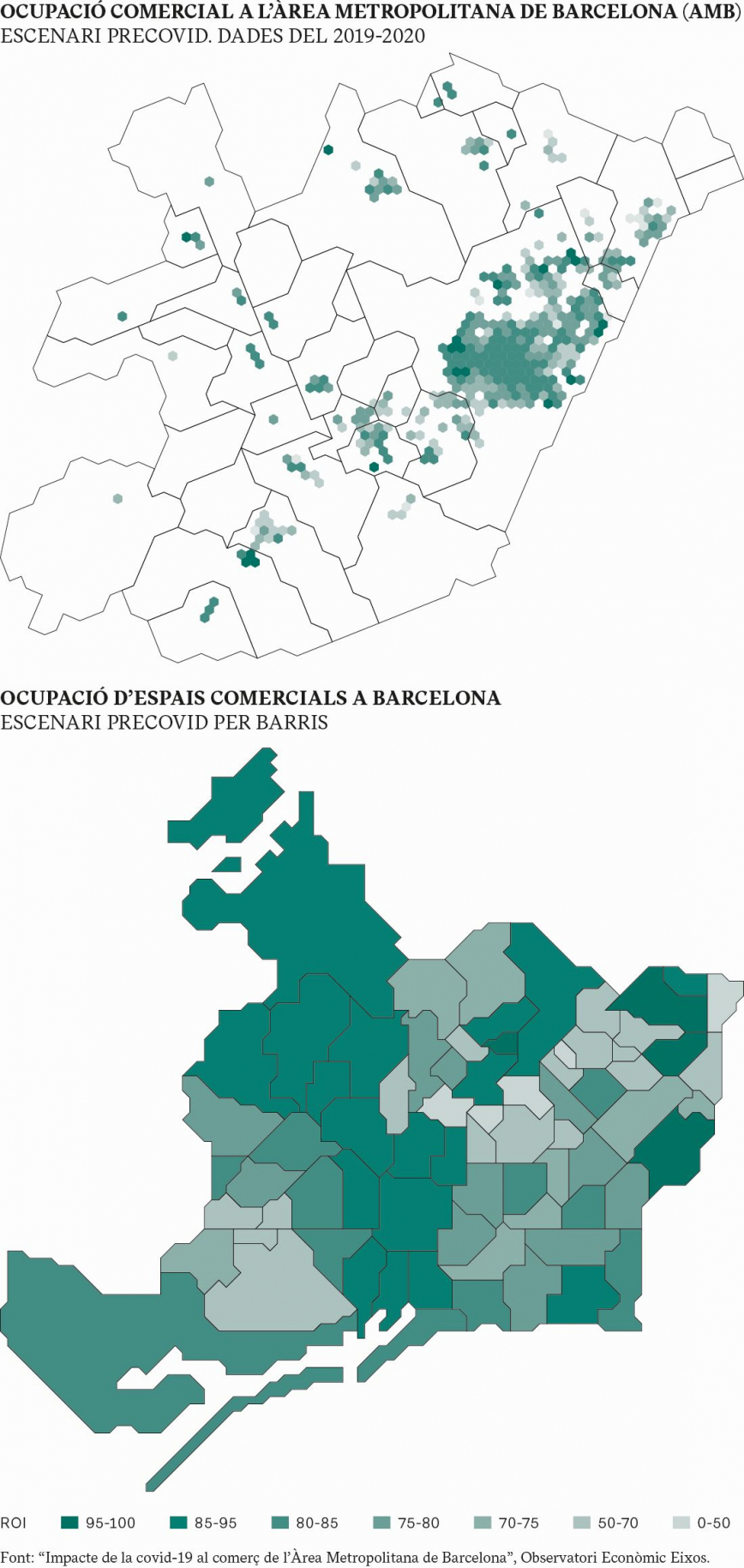 OCUPACIÓ COMERCIAL A L'ÀREA METROPOLITANA DE BARCELONA (AMB) I A LA CIUTAT DE BARCELONA: ESCENARI PRECOVID. DADES DEL 2019-2020