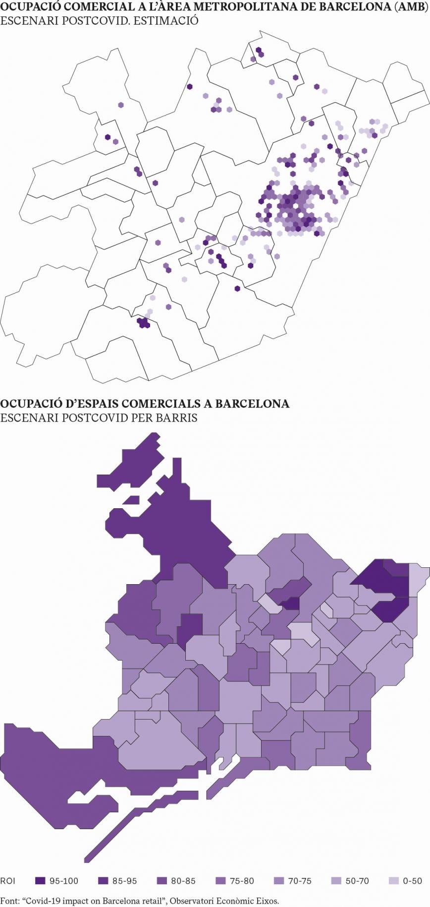 OCUPACIÓ COMERCIAL A L'ÀREA METROPOLITANA DE BARCELONA (AMB) I CIUTAT DE BARCELONA: ESCENARI POSTCOVID. ESTIMACIÓ
