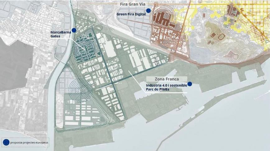 Projectes a l'àrea de la Zona Franca i la Marina del Prat Vermell. © Ajuntament de Barcelona