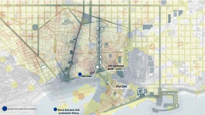 Pla de transformació del centre de la ciutat. © Ajuntament de Barcelona