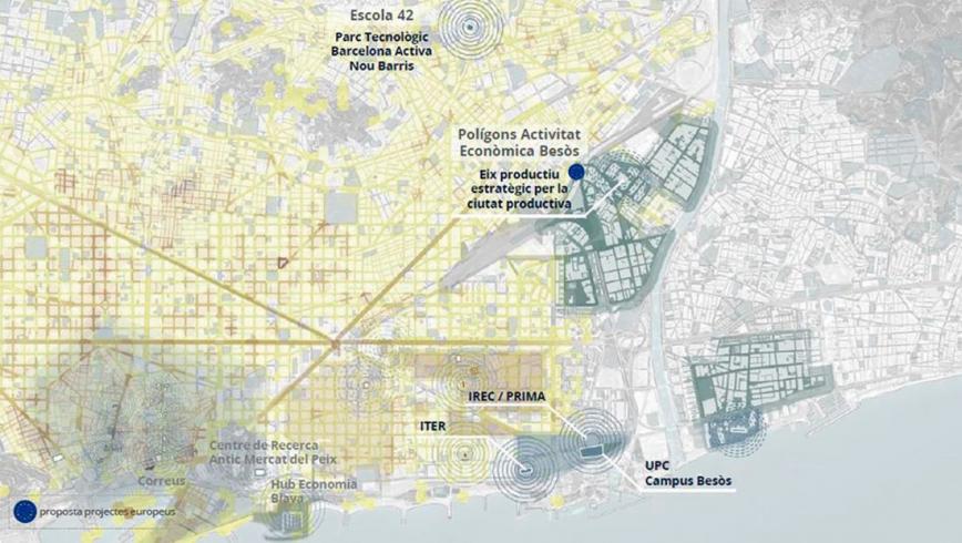 El futur del Besòs amb el programa ReAct. © Ajuntament de Barcelona