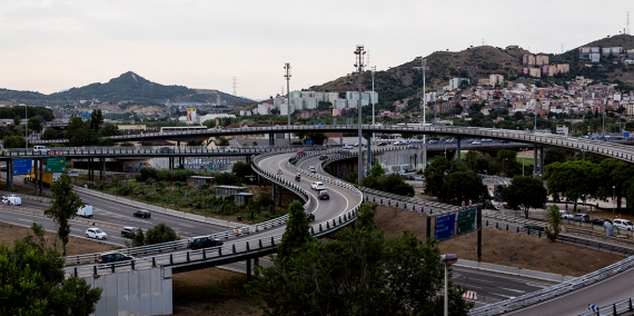 Barcelona's ring roads and some of the major highways connecting with Catalonia's northern regions come together at the interchange of La Trinitat.