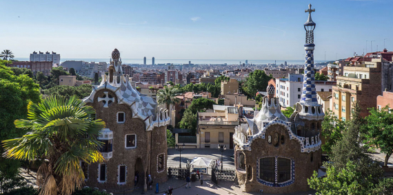 Park Güell. Entrada © Ajuntament de Barcelona / AL PHT Air Picture TAVISA