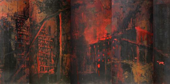 Obra de Vicenç Vilaplana de la sèrie Sota el Sui.