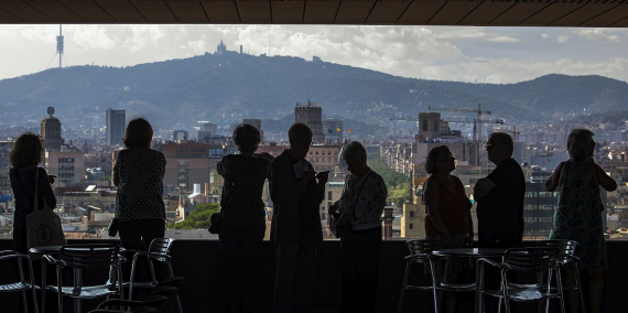 © Laura Guerrero. Views of Barcelona from the sea to the mountains from Barcelona City Council's Novíssim building.