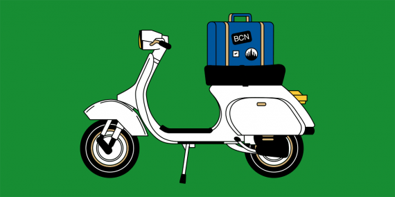 Il·lustració d'una moto
