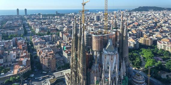 Vista panoràmica de Barcelona des de la Sagrada Família © Vicente Zambrano
