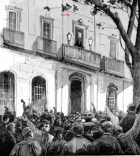 Celebració del primer de maig l'any 1890.