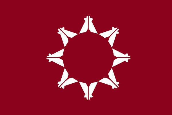 Bandera de la reserva india de Pine Ridge