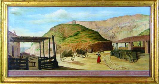 Vista de la pedrera de l'esperó (Montjuïc), autor desconegut, 1828. © MUHBA (autor: Teresa Ganzábal)
