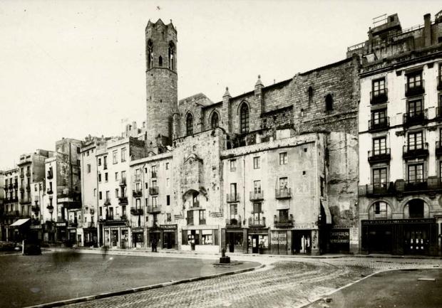 Carrer Tapineria, 1910. © Arxiu Fotogràfic de Barcelona (autor: Josep Brangulí)