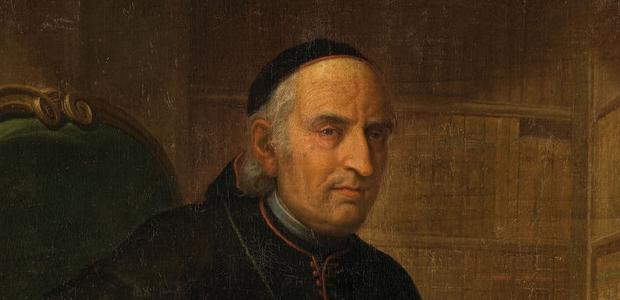 Pintura sobre tela del Obispo Eustaquio de Azara Perera