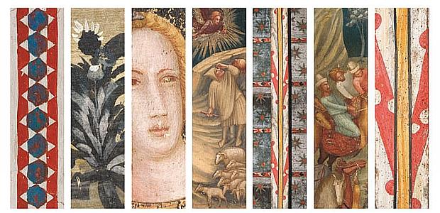Fragments de les pintures murals de la Capella de Sant Miquel