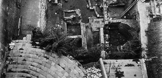 Vista de las excavaciones de la plaza del Rei. Año 1931