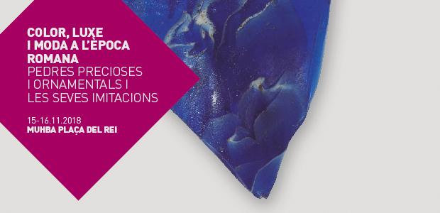 Borde de cuenco de costillas. Vidrio mosaico azul decorado con motivos en azul oscuro y blanco. Forma Ising 3b. Cronología: primera mitad del siglo I dC. MHCB-42146. Fotografía: © Enric Gracia - MUHBA