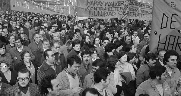 Manifestació de treballadors i treballadores de Harry Walker a Barcelona, el 3 de febrer del 1979. Autor: Pérez de Rozas. Arxiu Fotogràfic de Barcelona