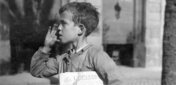 Gabriel Casas, Venedor de diaris, Barcelona, 1933 (ANC)