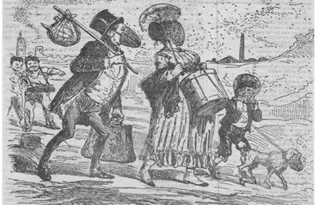 Gent amb mascareta durant l'epidèmia de febre groga de 1870.