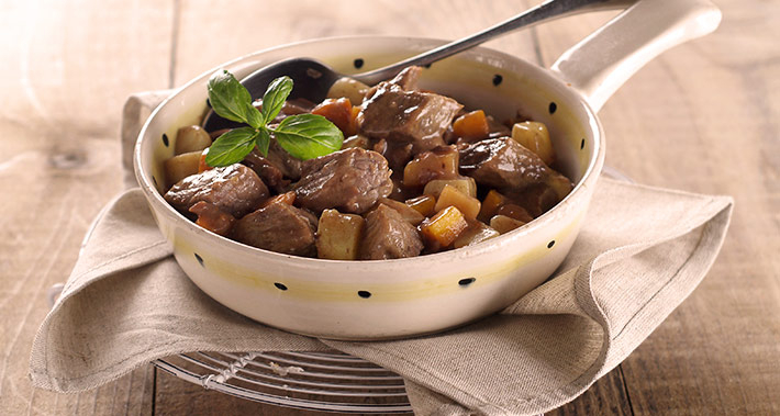 Fricassee with wild mushrooms