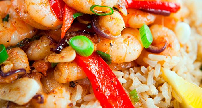 Scallop and prawn risotto
