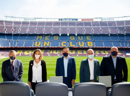 Barcelona City Council, the Government of Catalonia and Futbol Club Barcelona have signed an agreement