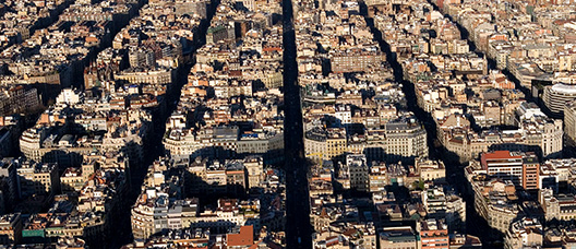 Panoramic view of L'Eixample